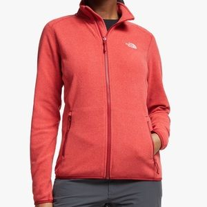 The North Face | Melon Red Agave Full Zip Jacket
